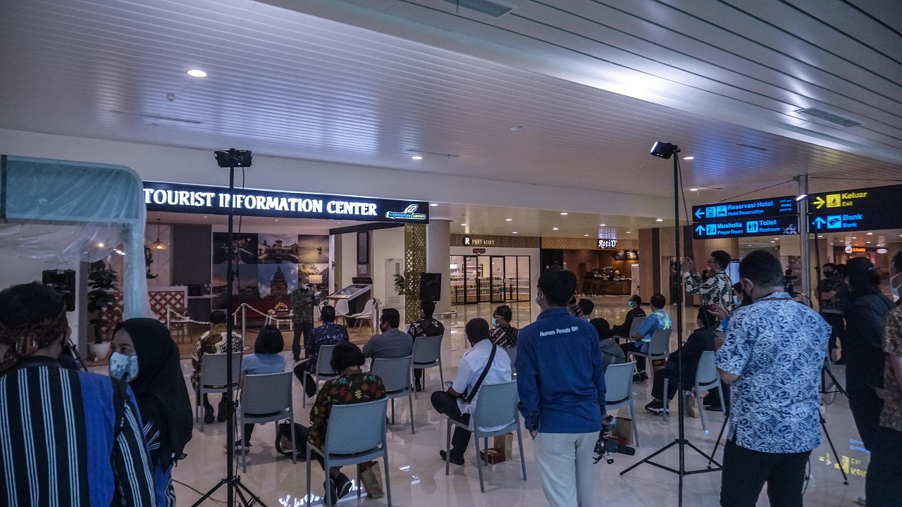 Dispar DIY Resmikan Tourist Information Center di Yogyakarta International Airport