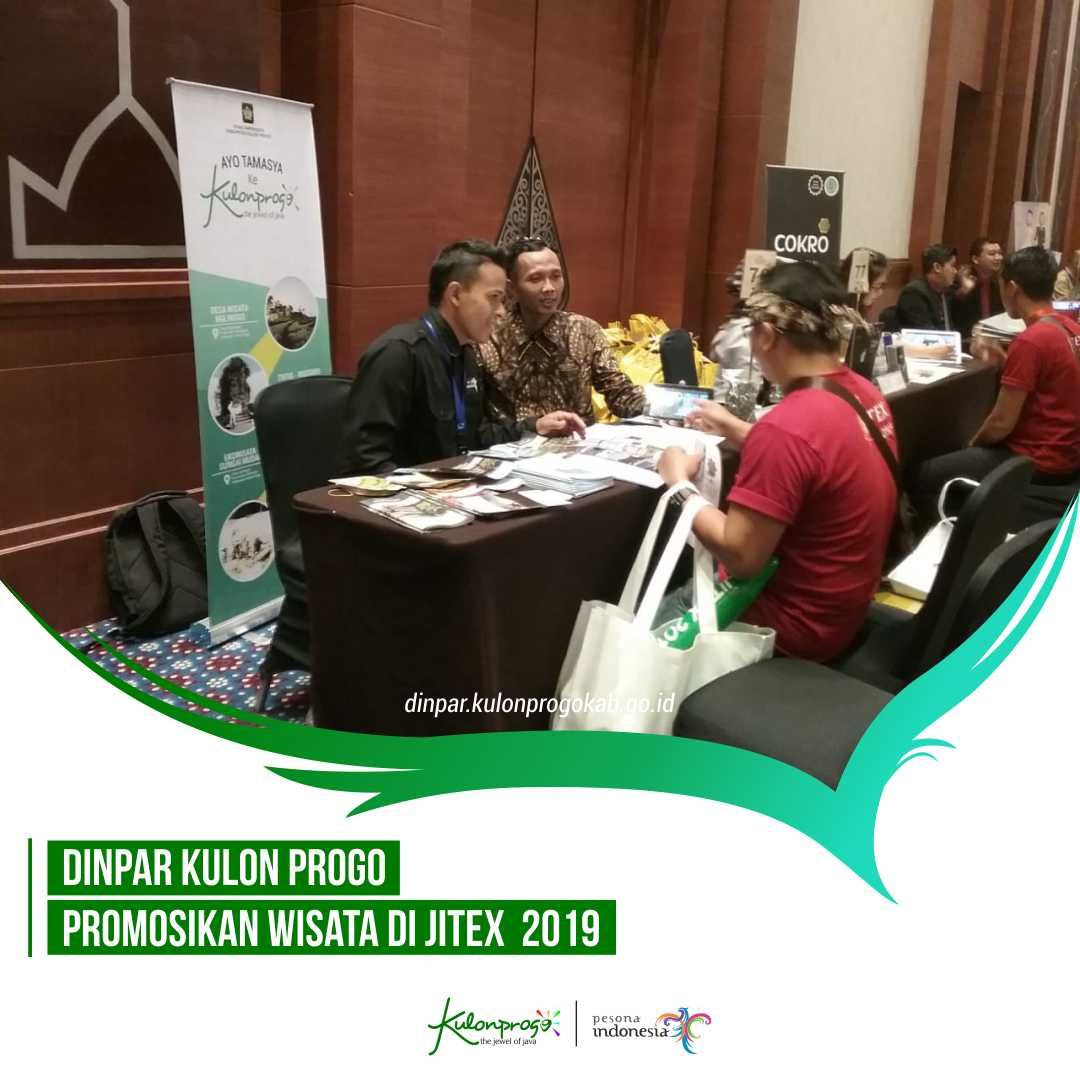 DINPAR KULON PROGO PROMOSIKAN WISATA DI JITEX  2019
