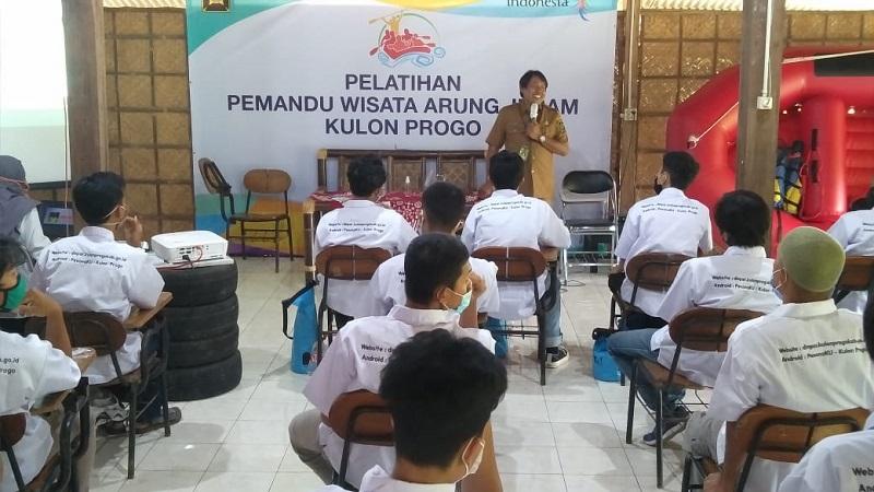 Kembangkan SDM Pariwisata, Dinas Pariwisata Kulon Progo Gelar Pelatihan Pemandu Arung Jeram